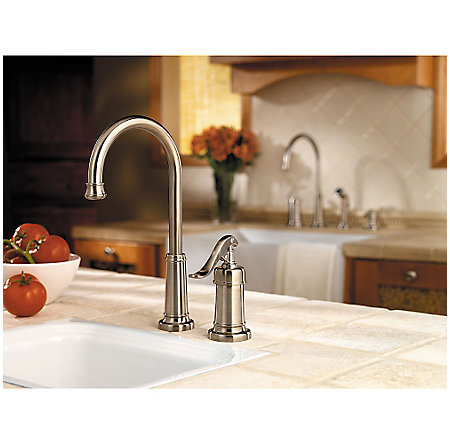Brushed Nickel Ashfield 1-Handle Bar and Prep Faucet - LG72-YP2K - 2