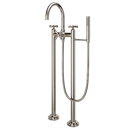 Polished Nickel Tisbury Optional Cross Handle - Tub Filler - HHL-LG6TBD - 2