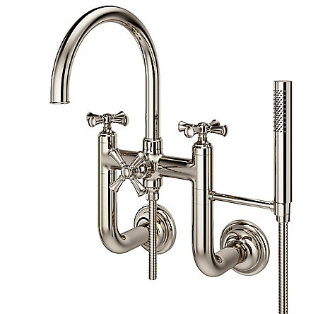 Polished Nickel Tisbury Optional Cross Handle - Tub Filler - HHL-LG6TBD - 3