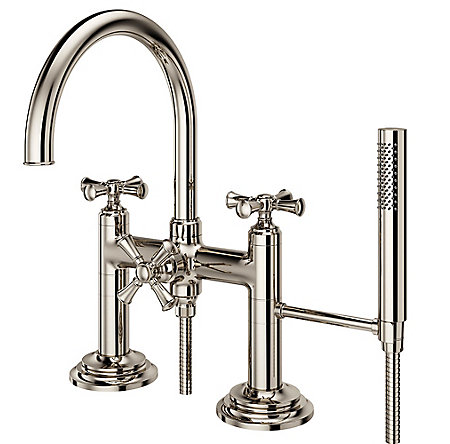 Polished Nickel Tisbury Optional Cross Handle - Tub Filler - HHL-LG6TBD - 4