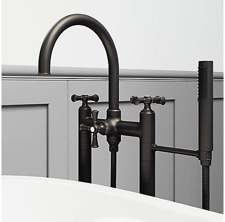 Tuscan Bronze Tisbury Optional Cross Handle - Tub Filler - HHL-LG6TBY - 5