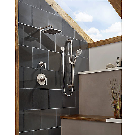 Brushed Nickel Kelen 1-Handle Tub & Shower, Trim Only - LG89-8MFK - 2