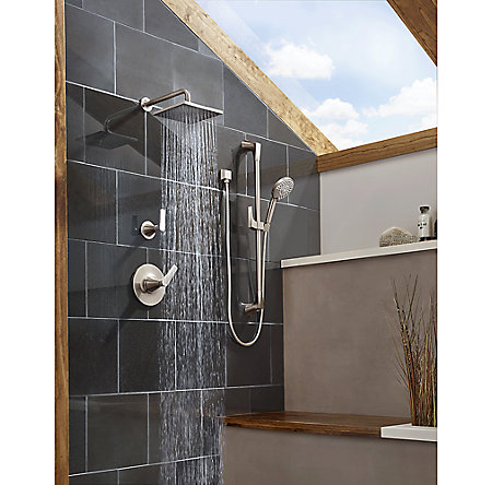 Brushed Nickel Kelen 1-Handle Tub & Shower, Trim Only - LG89-8MFK - 3