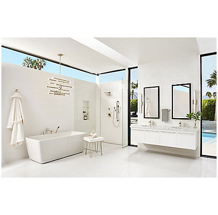 Brushed Nickel Kenzo 1-Handle Tub & Shower, Trim Only - LG89-8DFK - 2