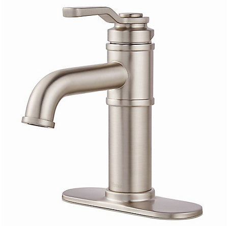 Spot Defense Brushed Nickel Breckenridge Single Control, Centerset Bath Faucet - LF-042-BCGS - 2