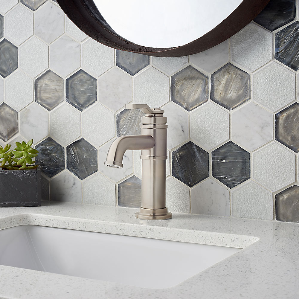 Brushed Nickel Breckenridge Single Control, Centerset Bath Faucet ...