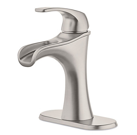 Spot Defense Brushed Nickel Jaida Single Control, Centerset Bath Faucet - LF-042-JDGS - 2