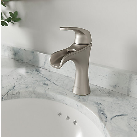Spot Defense Brushed Nickel Jaida Single Control, Centerset Bath Faucet - LF-042-JDGS - 3