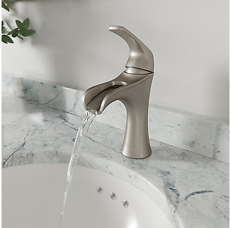 Spot Defense Brushed Nickel Jaida Single Control, Centerset Bath Faucet - LF-042-JDGS - 4