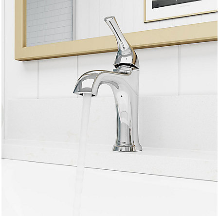 Polished Chrome Ladera Single Control Bath Faucet - LF-042-LRCC - 4