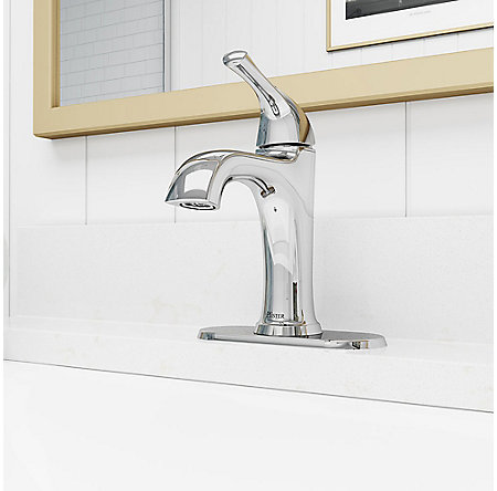 Polished Chrome Ladera Single Control Bath Faucet - LF-042-LRCC - 5