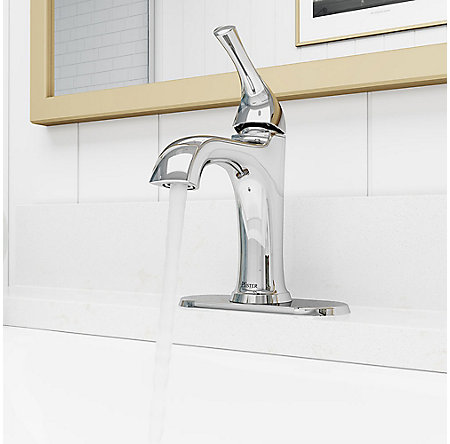 Polished Chrome Ladera Single Control Bath Faucet - LF-042-LRCC - 6