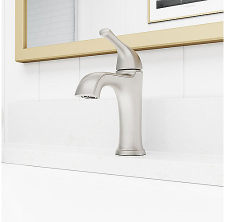 Spot Defense Brushed Nickel Ladera Single Control Bath Faucet - LF-042-LRGS - 3
