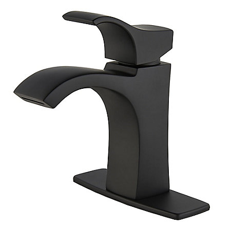 Black Venturi Single Control, Centerset Bath Faucet - LF-042-VNBB - 2