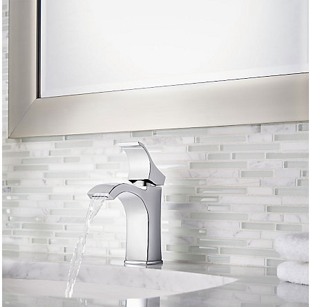 Polished Chrome Venturi Single Control, Centerset Bath Faucet - LF-042-VNCC - 4