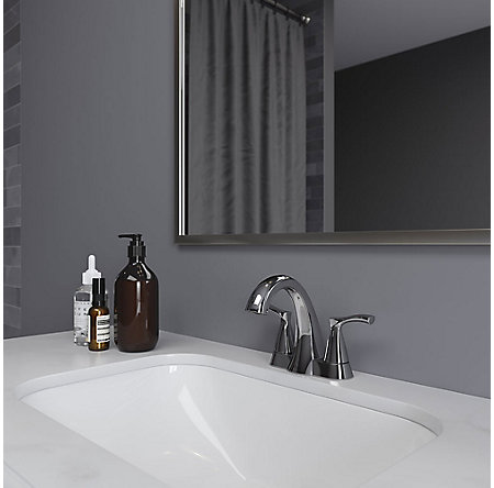 Polished Chrome Masey Centerset Bathroom Faucet - LF-048-MCCC - 2