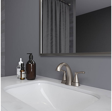 Brushed Nickel Masey Centerset Bathroom Faucet - LF-048-MCKK - 2
