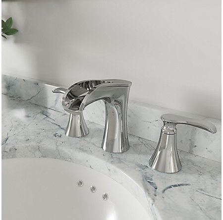 Polished Chrome Jaida Widespread Bath Faucet - LF-049-JDCC - 2