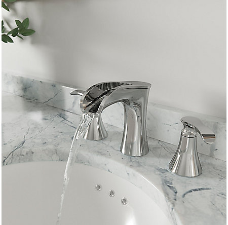Polished Chrome Jaida Widespread Bath Faucet - LF-049-JDCC - 3