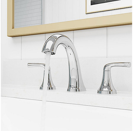 Polished Chrome Ladera Widespread Bath Faucet - LF-049-LRCC - 3
