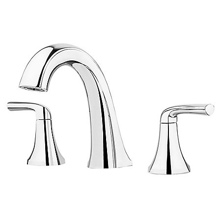Polished Chrome Ladera Widespread Bath Faucet - LF-049-LRCC - 1