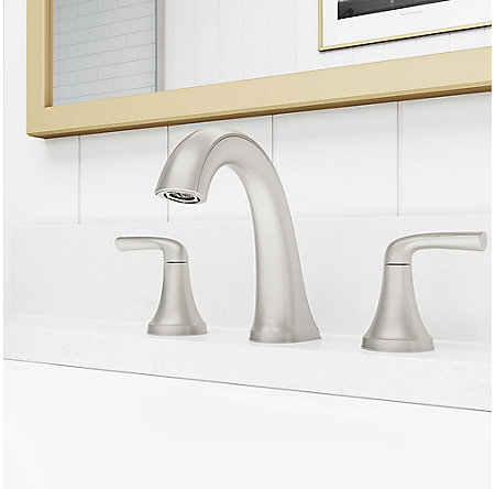 Spot Defense Brushed Nickel Ladera Widespread Bath Faucet - LF-049-LRGS - 2