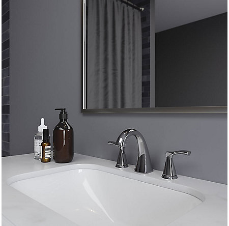 Polished Chrome Masey Widespread Bath Faucet - LF-049-MCCC - 2