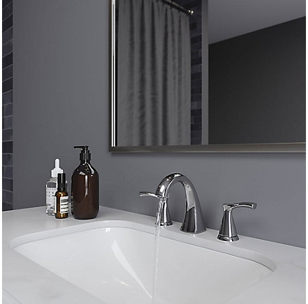 Polished Chrome Masey Widespread Bath Faucet - LF-049-MCCC - 3