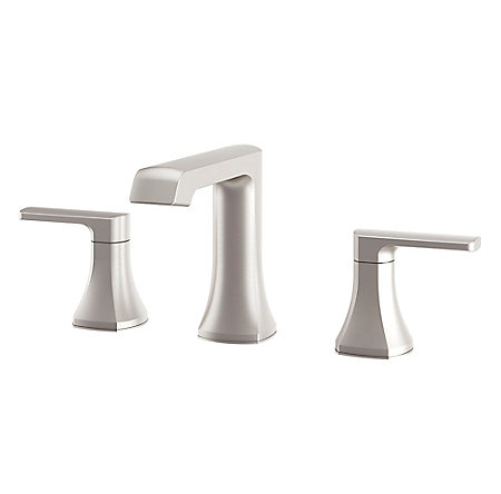 Spot Defense Brushed Nickel Penn Widespread Bath Faucet - LF-049-PEGS - 1
