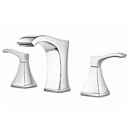 Polished Chrome Venturi Widespread Bath Faucet - LF-049-VNCC - 1