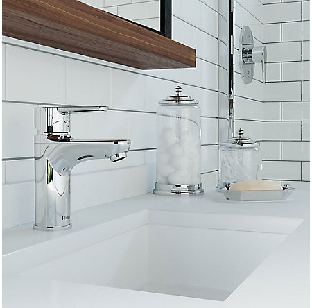 Polished Chrome Pfirst Modern Single Control Bath Faucet - LG142-0600 - 3