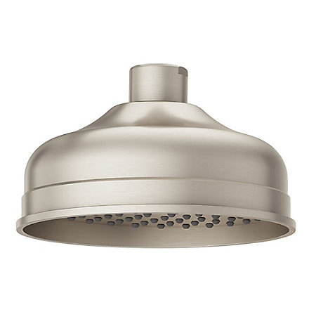 Brushed Nickel Tisbury Raincan Shower Head - LG15-TB0K - 1
