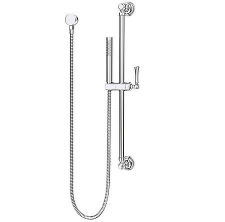 Polished Chrome Tisbury Slide Bar Kit with Hand Shower - LG16-3TBC - 1