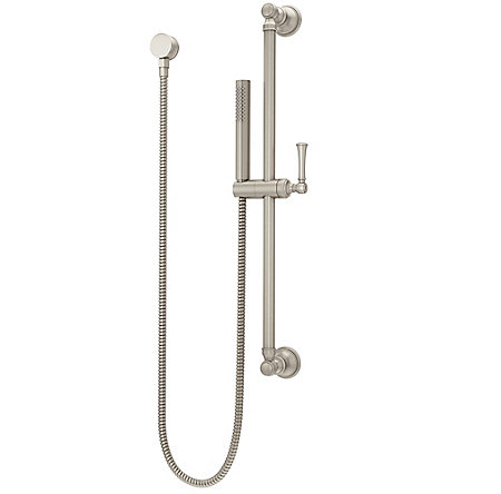 Brushed Nickel Tisbury Slide Bar Kit with Hand Shower - LG16-3TBK - 1