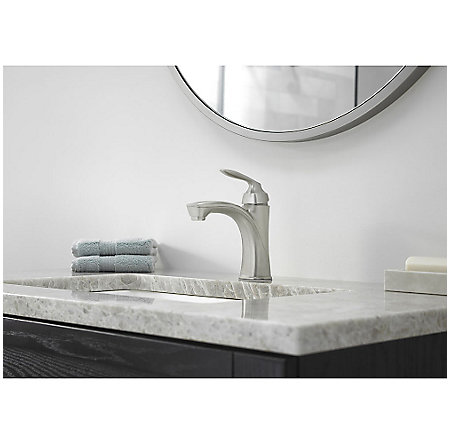 Brushed Nickel Avalon Single Control Bath Faucet - LG42-CB1K - 2