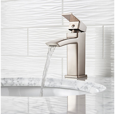 Brushed Nickel Kenzo Single Control Bath Faucet - LG42-DF1K - 3