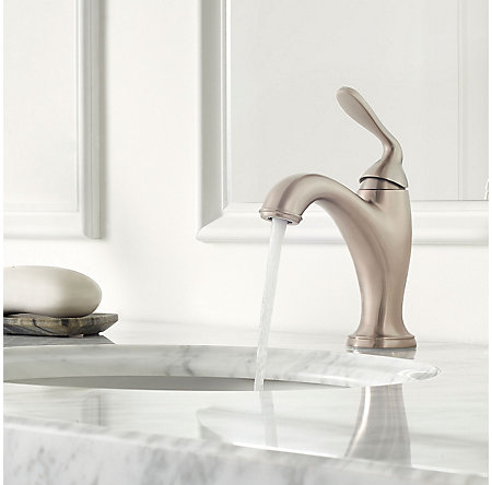 Brushed Nickel Northcott Single Control Bath Faucet - LG42-MG0K - 3