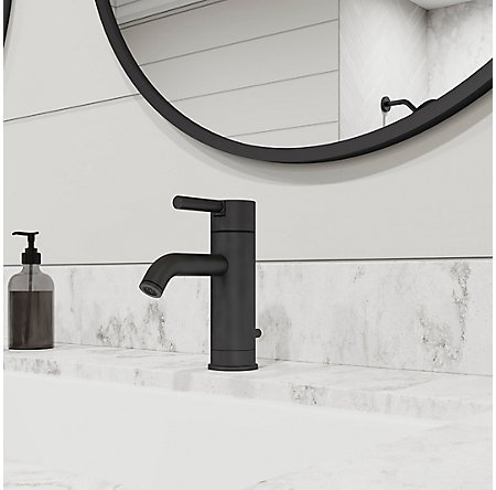 Black Contempra Single Control, Centerset Bath Faucet - LG42-NB00 - 2