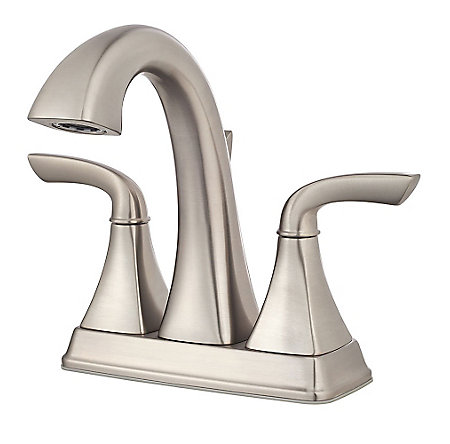 Brushed Nickel Bronson Centerset Bath Faucet - LG48-BS0K | Pfister ...