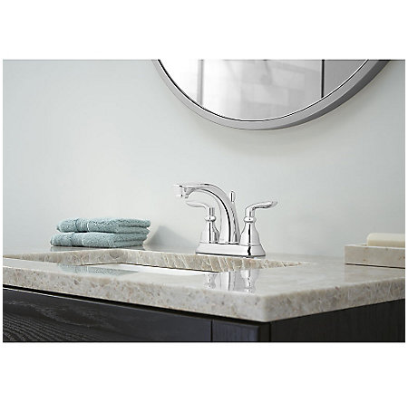 Polished Chrome Avalon Centerset Bath Faucet - LG48-CB1C - 2