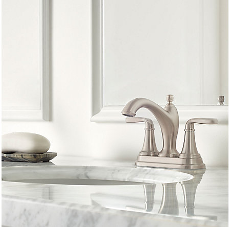Brushed Nickel Northcott Centerset Bath Faucet - LG48-MG0K - 2