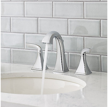 Polished Chrome Bronson Widespread Bath Faucet - LG49-BS0C - 3