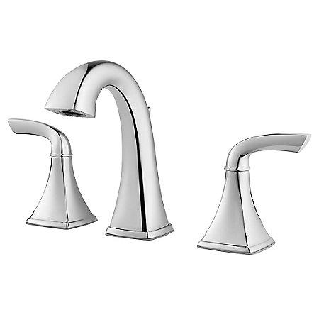 Polished Chrome Bronson Widespread Bath Faucet - LG49-BS0C | Pfister ...