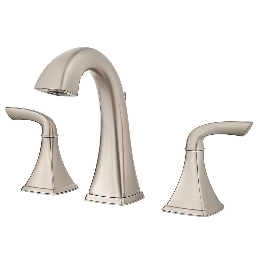 Brushed Nickel Bronson Widespread Bath Faucet - LG49-BS0K | Pfister ...
