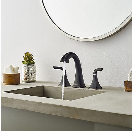 Tuscan Bronze Bronson Widespread Bath Faucet Lg49 Bs0y