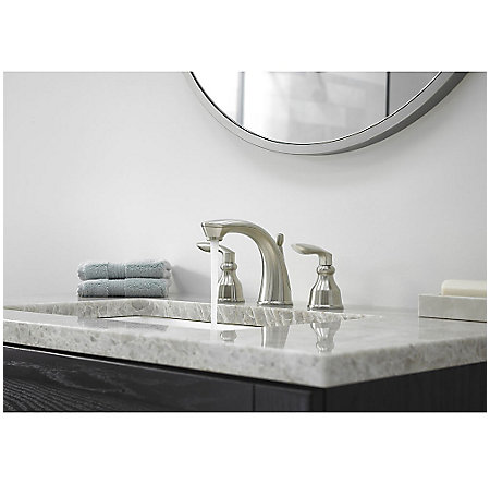 Brushed Nickel Avalon Widespread Lavatory Faucet - LG49-CB1K - 3
