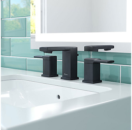 Black Deckard Widespread Bath Faucet - LG49-DA0B - 2