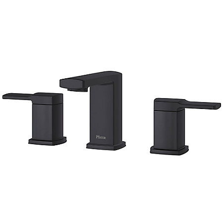 Black Deckard Widespread Bath Faucet - LG49-DA0B - 1