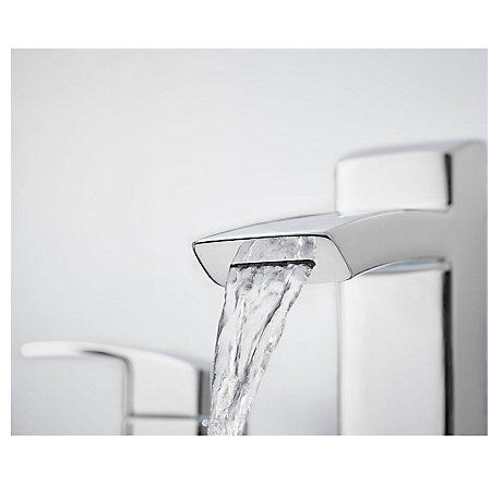 Polished Chrome Kenzo Widespread Bath Faucet - LG49-DF2C - 2
