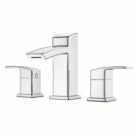 Polished Chrome Kenzo Widespread Bath Faucet - LG49-DF2C - 1